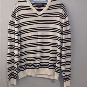 Vineyard Vines striped v-neck sweater